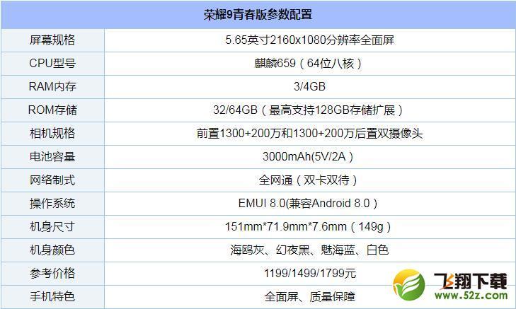 荣耀9青春版手机深度实用评测_52z.com